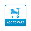 Etiqueta tipo app azul ADD TO CART