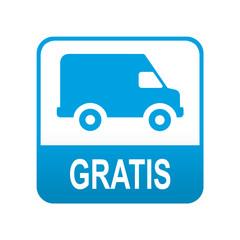Etiqueta tipo app azul furgoneta GRATIS