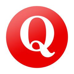 Etiqueta redonda Q