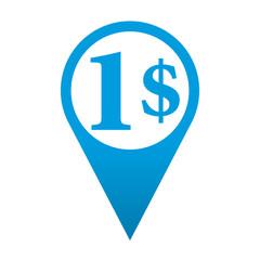 Icono localizacion simbolo 1$