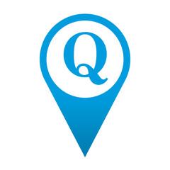 Icono localizacion simbolo Q