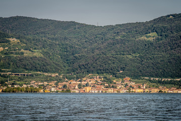 Iseo village from the lake, Brescia Italy