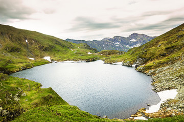 Landscape from Capra Lake and Fagaras mountains