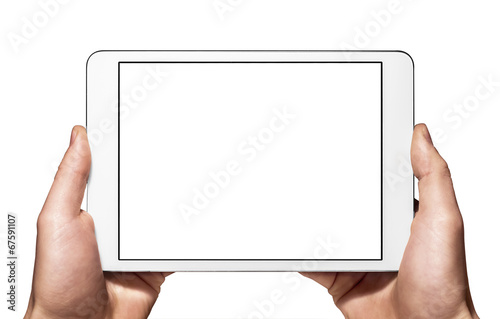 Leinwandbild Motiv A new tablet mini on hand