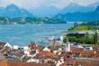 canvas print picture - Luzern und Vierwaldstättersee