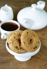 delicious homemade cookies with chocolate chips