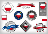 Made in Poland, Polonia Flag and Seals (vector Art)