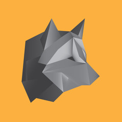 Polygon Wolf Vector