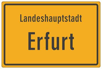 Schild Landeshauptstadt Erfurt