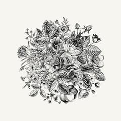 Vintage floral vector bouquet