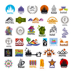 biggest collection of vector logos hotels for leisure tourism