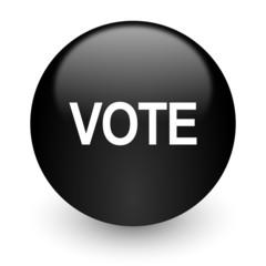 vote black glossy internet icon