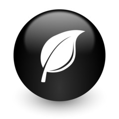 nature black glossy internet icon