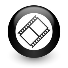 film black glossy internet icon