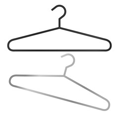 Two hangers in vector