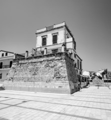 Italy, Sicily, Marina di Ragusa, old saracin tower