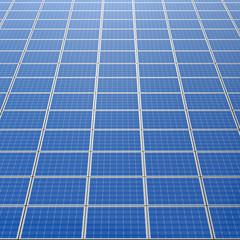 Photovoltaik Solarzellen als Fläche