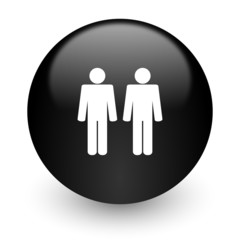couple black glossy internet icon