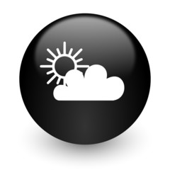 cloud black glossy internet icon