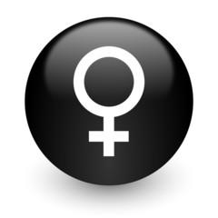 female black glossy internet icon