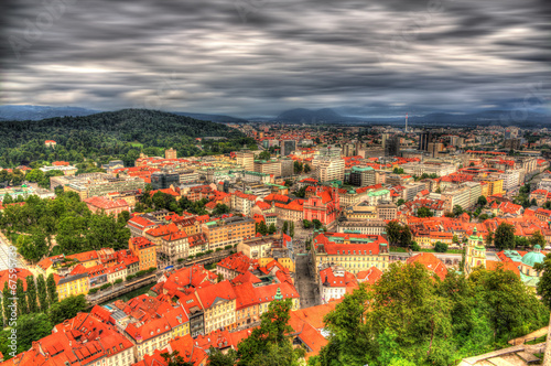 Staande foto Athene View of Ljubljana from the castle - Slovenia