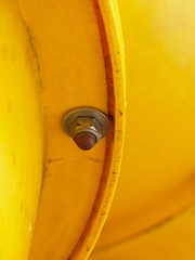 Screw joint point of plastic tubes. Detail of screw connection