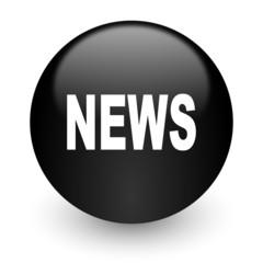 news black glossy internet icon