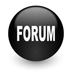 forum black glossy internet icon
