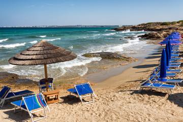 Punta della suina Beach of Gallipoli, Puglia, Italy