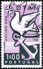 Dove and anchor (Portugal 1960)