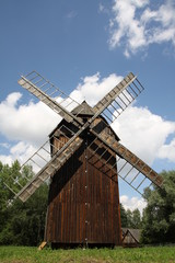Wooden windmil