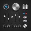 Hi-End User Interface Elements: Buttons, Switchers, On, Off