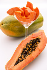 Papaya - a popular breakfast fruit.