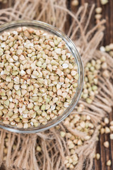 Buckwheat in a small bowl