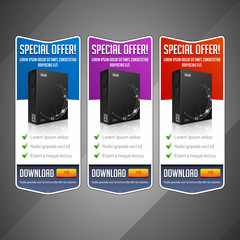 Modern Special Offer Web Banner Set Vector Colored
