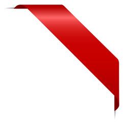 rotes Eckenbanner