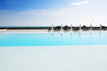 The swimming pool at luxury hotel, Antalya, Turkey