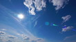 HD - Summer sun with cirrus clouds