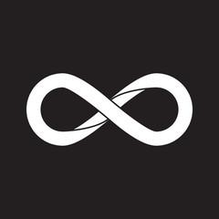 Infinity symbol, flat design