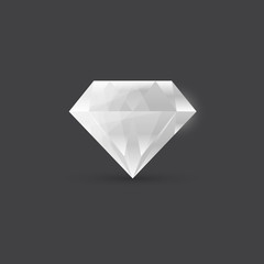 Diamond, gemstone illustration