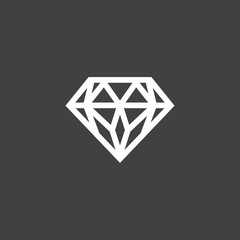 Diamond, simple flat design