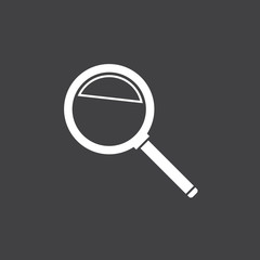Magnifying glass symbol, simple flat design