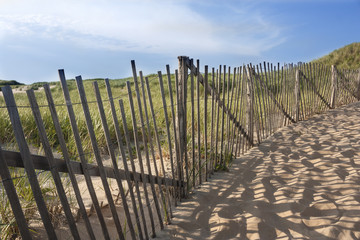 Beach fence at Head of the Meadow in Truro, Massachusetts