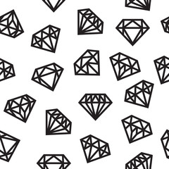 Diamonds, seamless pattern, black and white