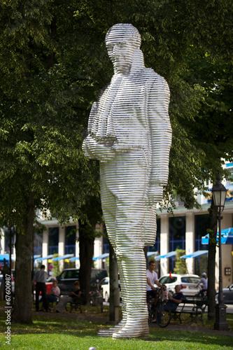 Leinwanddruck Bild München - Denkmal des Maximilian-Joseph Graf von Montgelas.