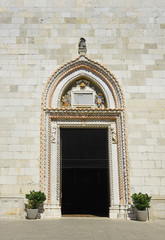 Entrance portal of the Cathedral Santa Maria Assunta in Cividale