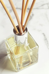 Aromatherapy reed diffuser air freshener close up