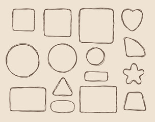 Hand drawn form elements