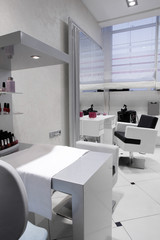 interior of modern beauty salon