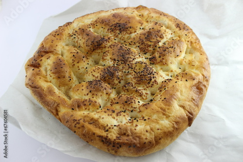 Ramadan Bread on Bakery Paper